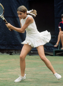 Chris Evert à 16 ans (1er US Open, 1971)