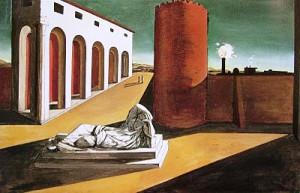 Les joies et les énigmes d'une heure étrange, G. De Chirico (1913)
