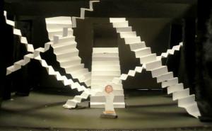 Escaliers, décor de théâtre