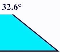 Angle de 32.6°