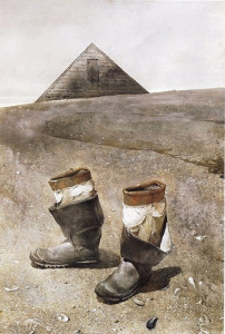 'Sea Boots' by Andrew Wyeth 1976