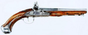 Pistolet à silex du 18ème