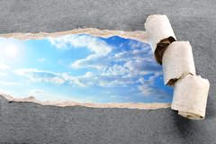 http://www.dreamstime.com/royalty-free-stock-images-ripped-paper-sky-image14137529