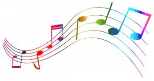 Portée musicale couleur