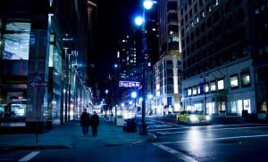 Rue de NY la nuit